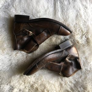 Vintage Leather Booties | size 38